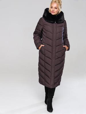 Пальто шоколадного цвета | 4886848
