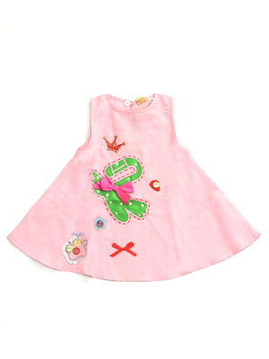 Сукня рожева з аплікацією | 4891400