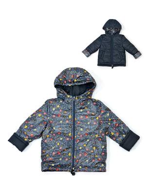 Куртка темно-синя двостороння | 4891437