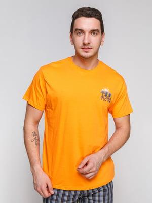 Футболка оранжевая | 4854882
