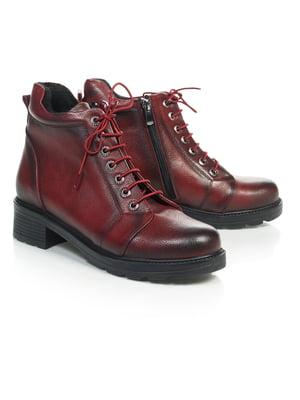 Ботинки бордовые | 4771473