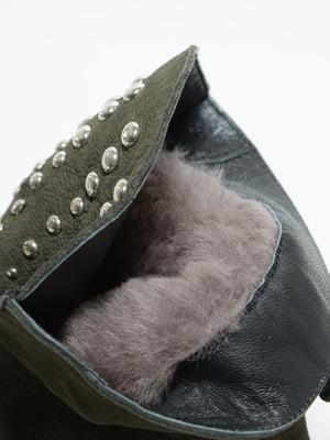 Ботинки цвета хаки | 4887093