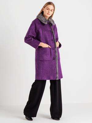 Пальто фиолетовое | 4891283