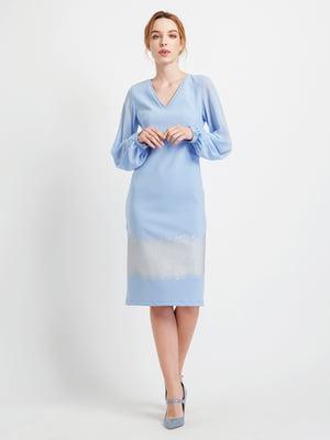 Платье голубое | 4891226