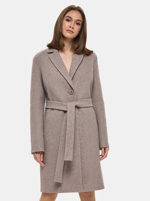 Пальто коричневое   4891723