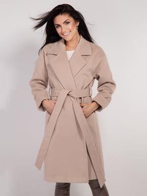 Пальто бежевое | 4893371