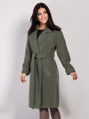Пальто цвета хаки | 4893373