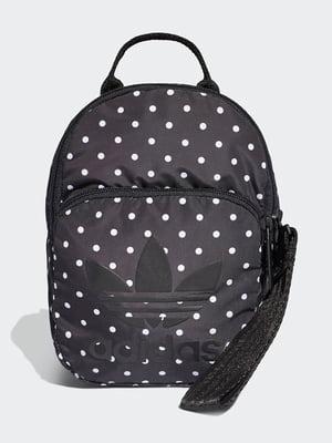Рюкзак черный в горошек | 4842641