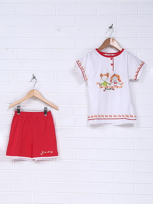 Пижама: футболка и шорты | 4893125