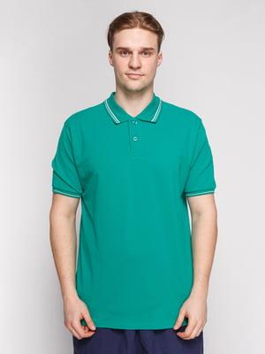 Футболка-поло зелена | 4854926