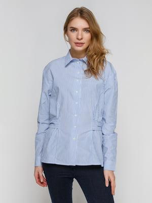 Рубашка голубая в полоску | 4872644