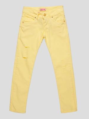 Брюки желтые   4890766