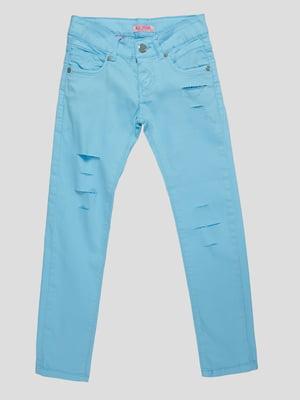 Брюки голубые   4890765