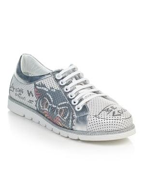 Туфлі сірі з принтом | 4874818