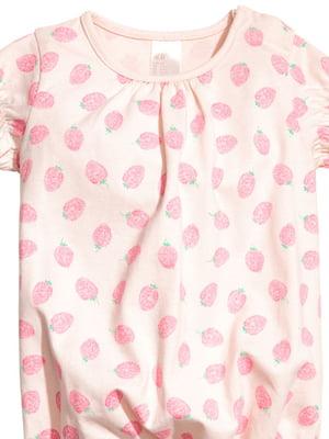Песочник розовый в клубнички | 4894727