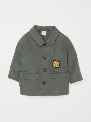 Куртка кольору хакі | 4895149