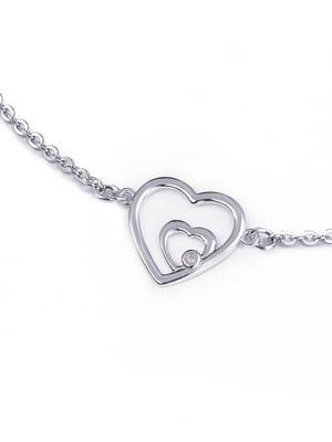 Браслет «Сердце малое двойное» | 4875721