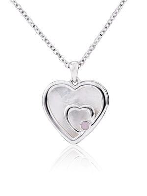 Подвеска «Сердце малое двойное» | 4875734