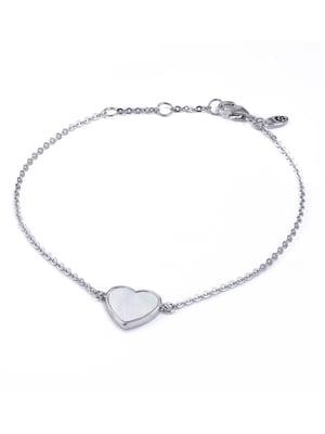 Браслет «Сердце малое с перламутром» | 4875748