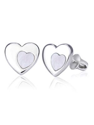 Серьги «Сердце в сердце» | 4875754