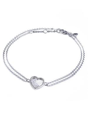 Браслет «Сердце малое с подвижными вставками» | 4875758