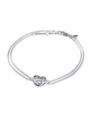 Браслет «Сердце малое с танцующим камнем» | 4875763