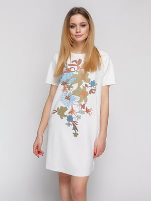 Сукня біла з принтом | 4873726