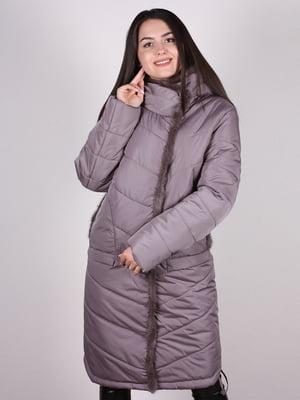 Пальто бежево-сиреневого цвета | 4897391