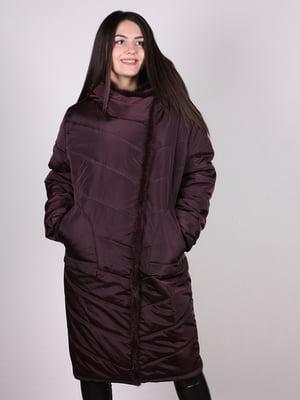 Пальто бордовое | 4897394