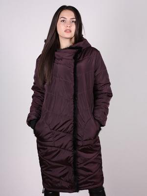Пальто бордовое | 4897396