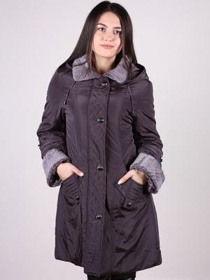 Пальто темно-сиреневое | 4897415