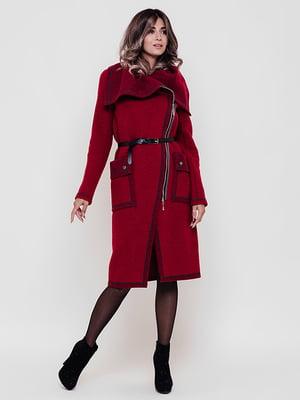 Пальто винного цвета | 4897490