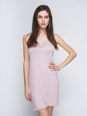 Рубашка ночная розовая | 4788294
