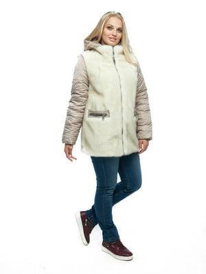 Куртка бежевая   4888156