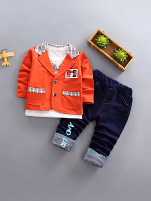 Комплект: джемпер, піджак і штани | 4898267