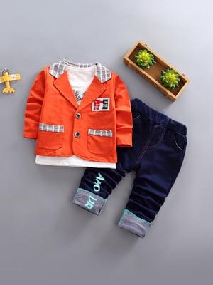 Комплект: джемпер, піджак і штани | 4898269