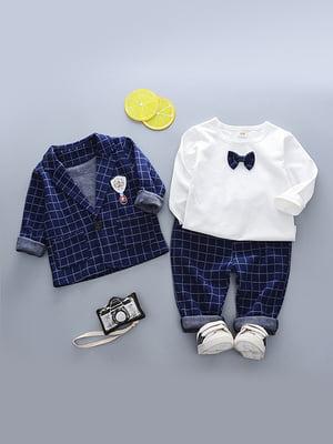Комплект: джемпер, піджак і штани | 4898270