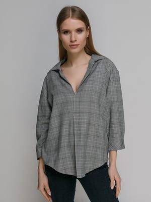 Блуза клетчатая   4874066