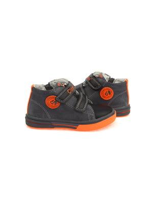Черевики чорно-помаранчеві   4900212