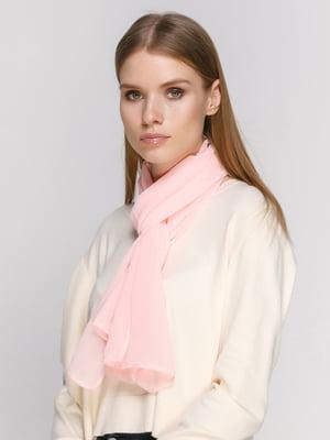 Шарф ніжно-рожевого кольору | 4897002