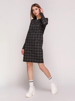 Платье черное в клетку | 4887002