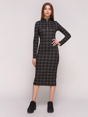 Платье черное в клетку | 4887004