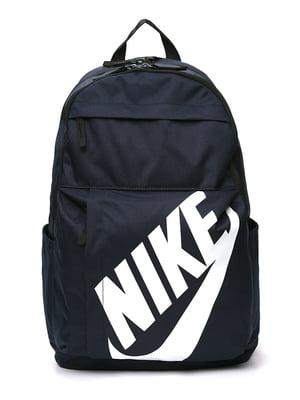 Рюкзак синий с принтом | 4901890