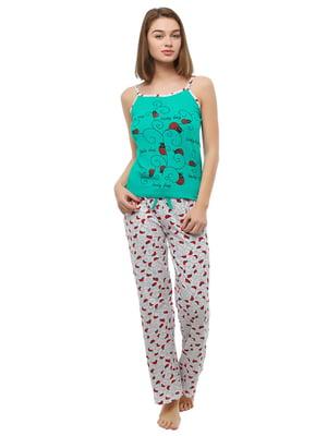 Комплект домашній: халат, майка і штани   4902079