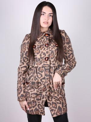 Пальто анималистической расцветки | 4902372