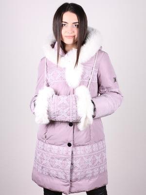 Пальто сиреневое | 4902383