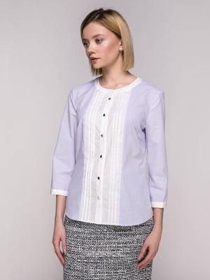 Блуза лавандового кольору в смужку | 4896451
