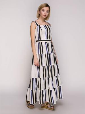 Сукня біла в смужку | 4896445