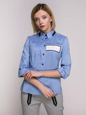 Сорочка блакитна | 4896442