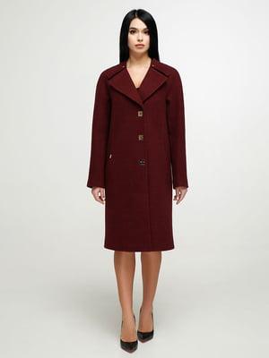 Пальто винного кольору | 4904585